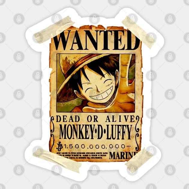 Kira2 bakal dapat berapa berry ya setelah mengalahkan kaido? Vintage One Piece Bounty Monkey D Luffy Poster One Piece Anime Sticker Teepublic