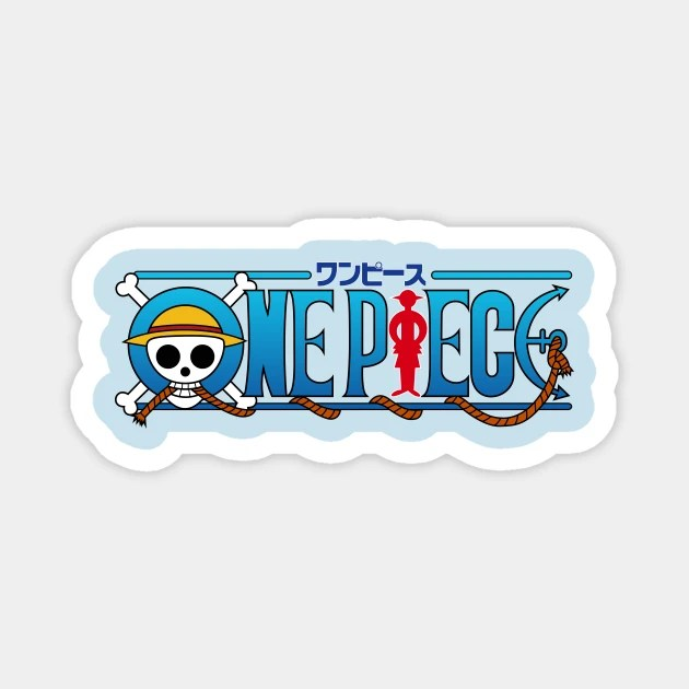 Check out this transparent one piece monkey d luffy jumping. One Piece Logo Series One Piece Luffy Straw Hat Pirate Sluffy Magnet Teepublic