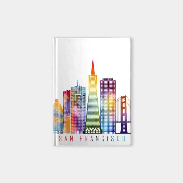 san francisco skyline watercolor