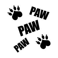 cat pawprint - Pawprint - T-Shirt | TeePublic