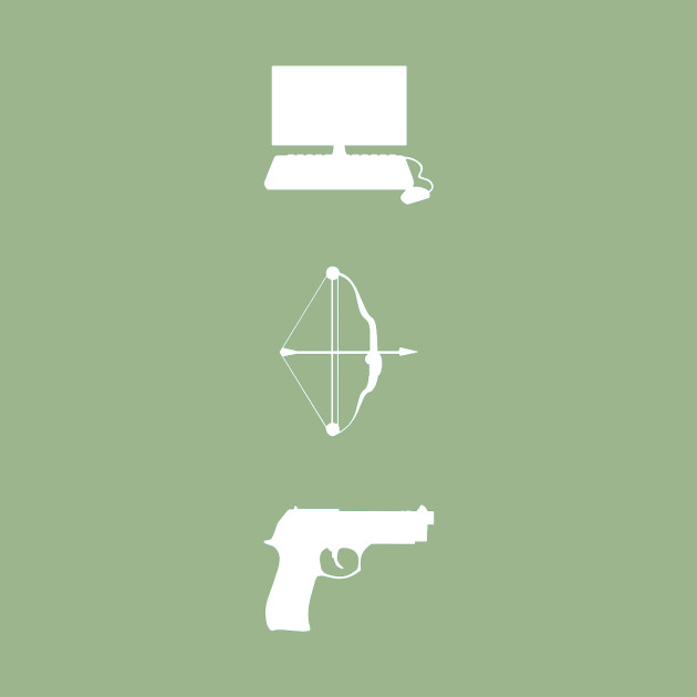 team arrow symbols weapons