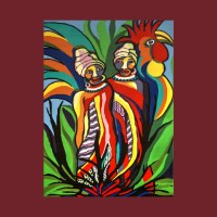 African Traditional Tribal Women Abstract Art Canvas ...