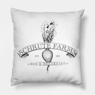 the office pillows featuring designs by