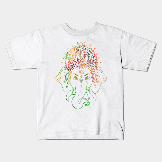 Ganesha Drawing Color Ganesha Kids T Shirt Teepublic