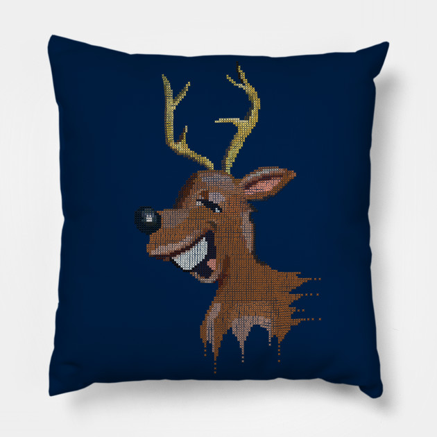 reindeer funny fake embroidery
