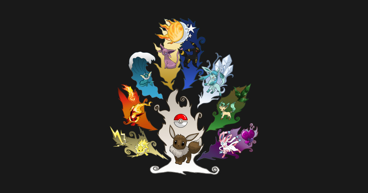 Cute Wallpapers For Phone Cases Eeveelution Tree Ver 2 Video Game T Shirt Teepublic