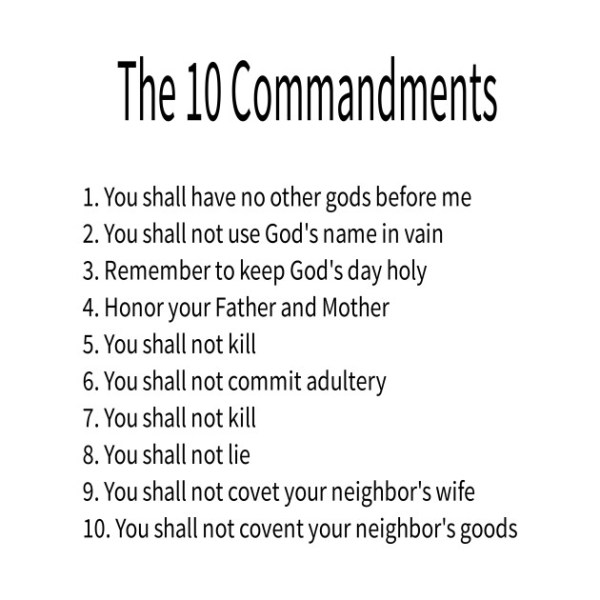 10 commandments of god # 22