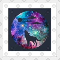 Galaxy Wolf Posters and Art Prints TeePublic AU