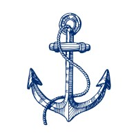 Navy blue nautical boat anchor illustration - Simple - T ...