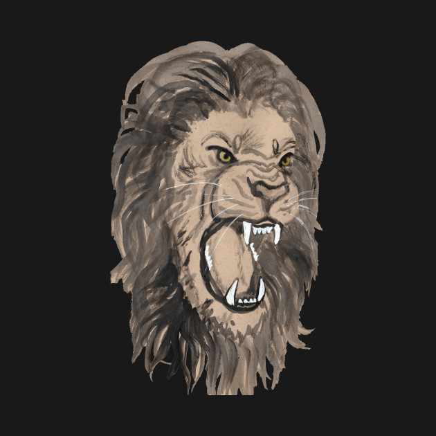 fierce lion by shyflyer