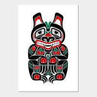 Red and Green Haida Spirit Bear