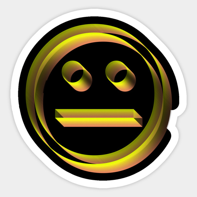 3d sad smiley face