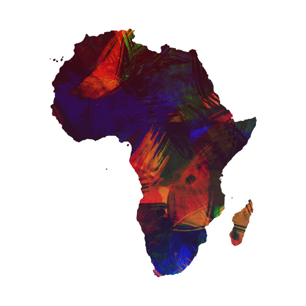 africa colorful africa continent