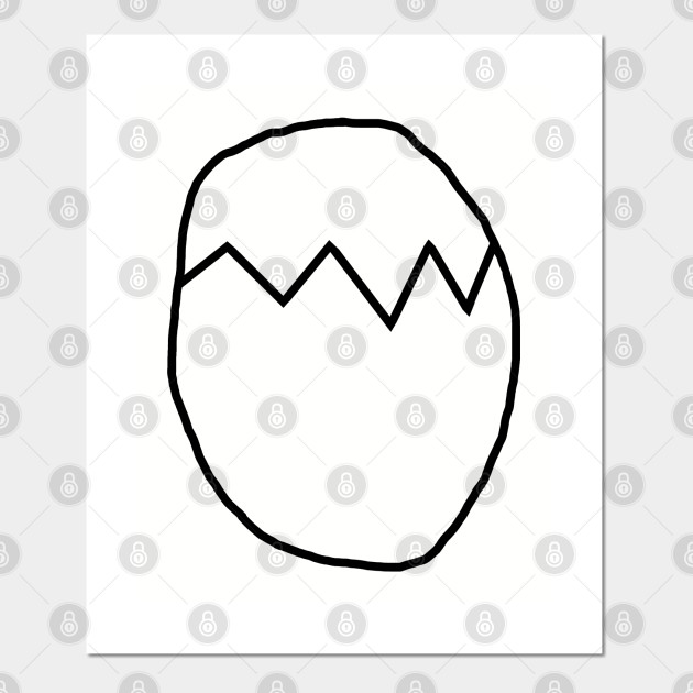 Easter Egg Outline Easter Posters And Art Prints Teepublic