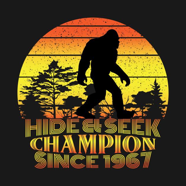 Hide And Seek World Champion Tshirt Bigfoot Shirt Sasquatch Funny Bigfoot Shirt Gift For Him Gift For Hercryptid Teecryptozoology Tee