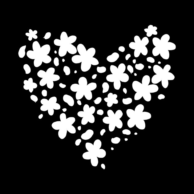 cute white flower silhouette