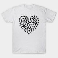 Paw Print Heart - Paw - T-Shirt | TeePublic