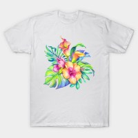 Colorful tropical Flowers Bouquet Design - Tropical ...