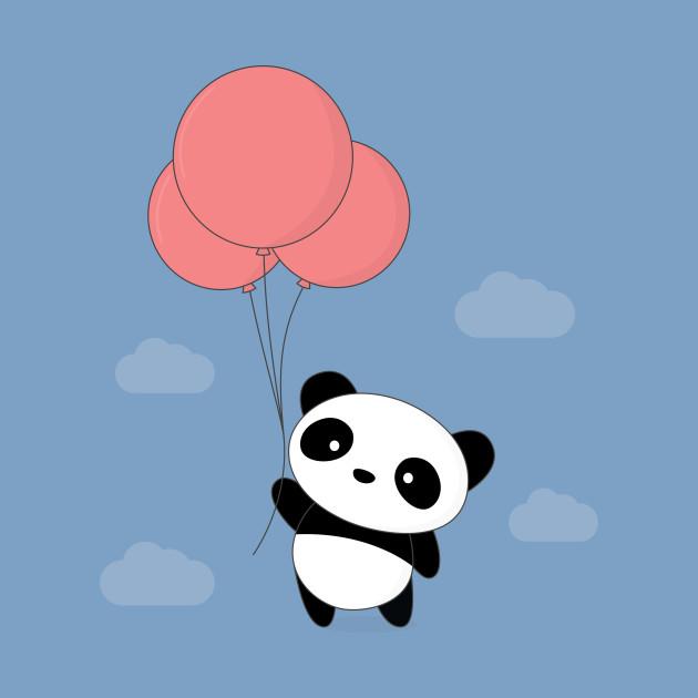 kawaii cute balloon panda