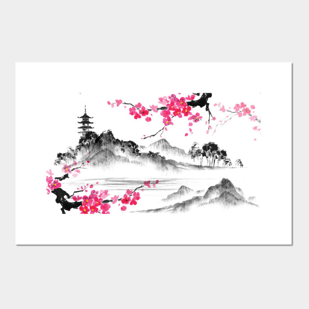 japanese cherry blossom tree buddha