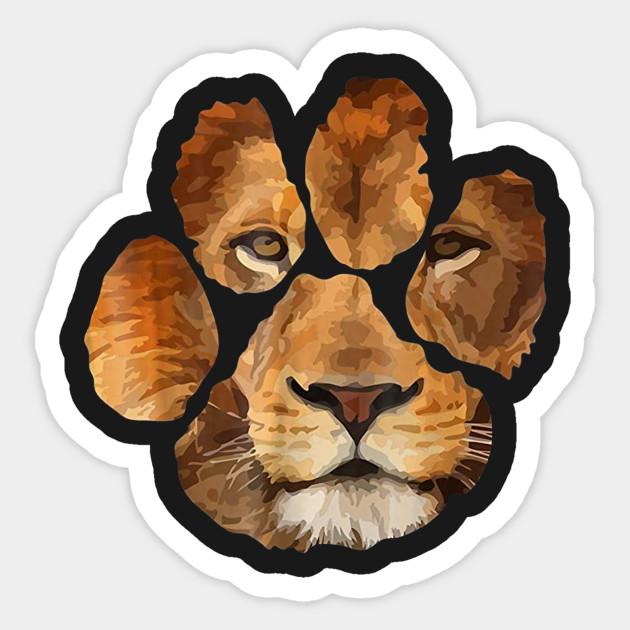 lion paw print animal