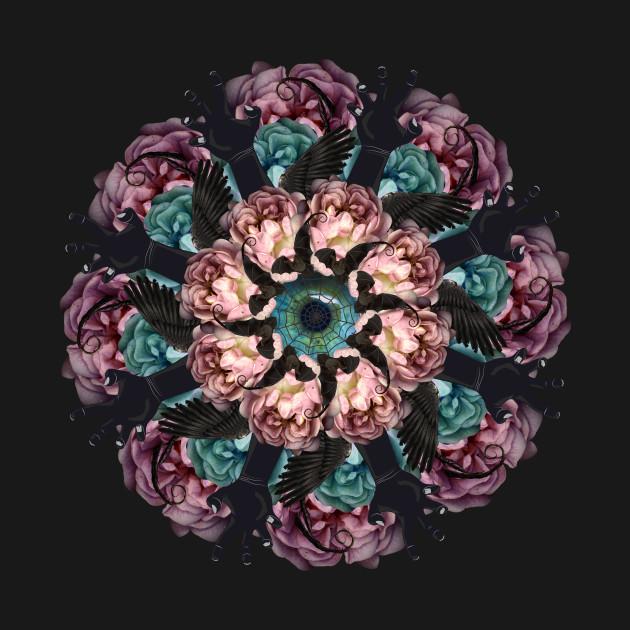 gothic flowers mandala