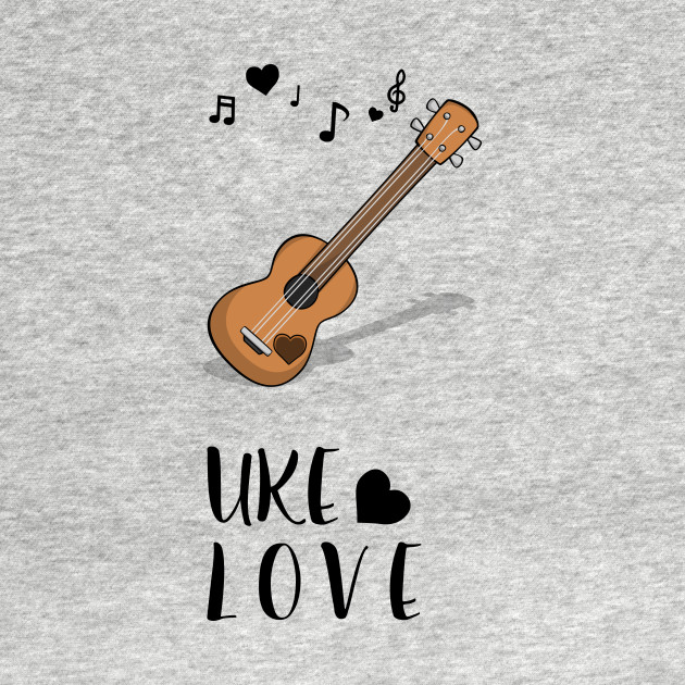 Hawaiian Mahalo Acoustic Uke Ukulele Love Notes with Heart