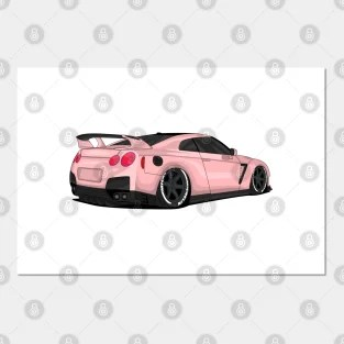 nissan gtr r35 posters and art prints