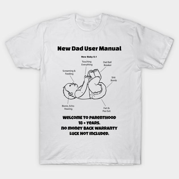 fun new dad shirt