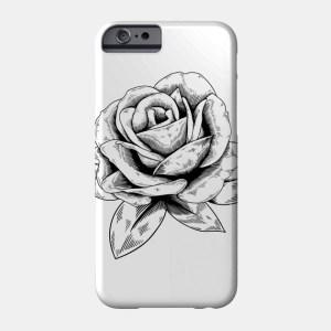 phone drawing case rose mobile drawings paintingvalley teepublic designs