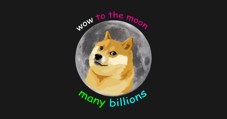 Doge to the moon - Dogecoin - T-Shirt | TeePublic