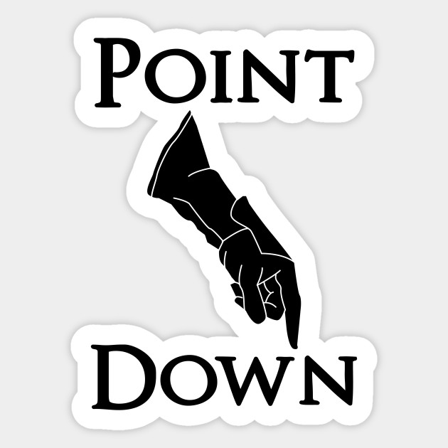 point down