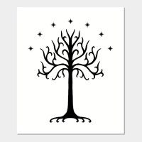 White Tree of Gondor (Black)
