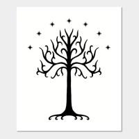 White Tree of Gondor (Black)