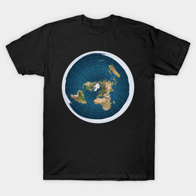 flat earth map shirt