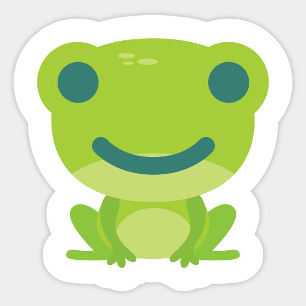 frog emoji cheerful smile