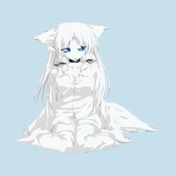 wolf anime chibi teepublic female short
