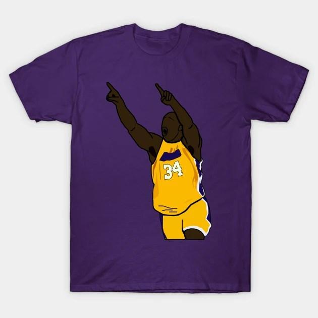 Purple Los Angeles Lakers T Shirt - Shaq Shaquille O Neal Point Nba Los Angeles Lakers Nba T Shirt Teepublic De
