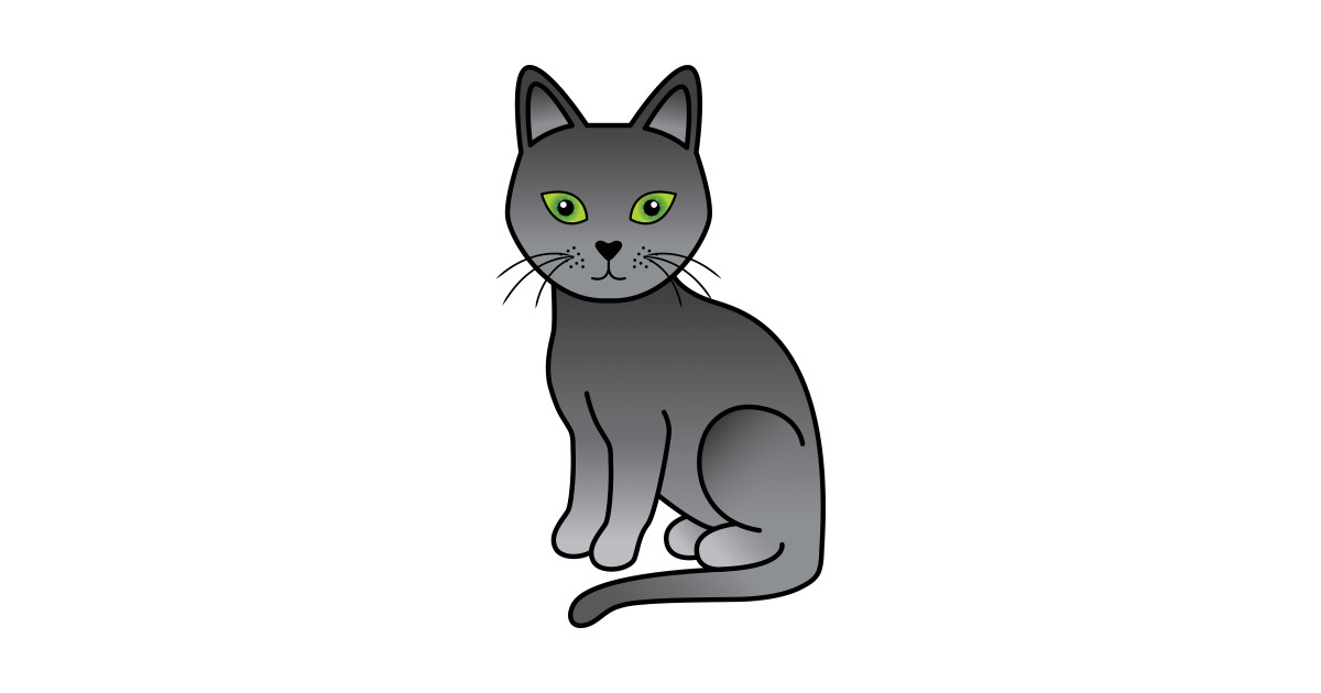 russian blue cute cartoon