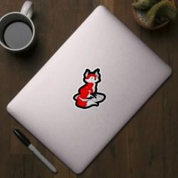 Fox Wolf Drawing Cute Forest Animal Animal Love Fox Sticker TeePublic