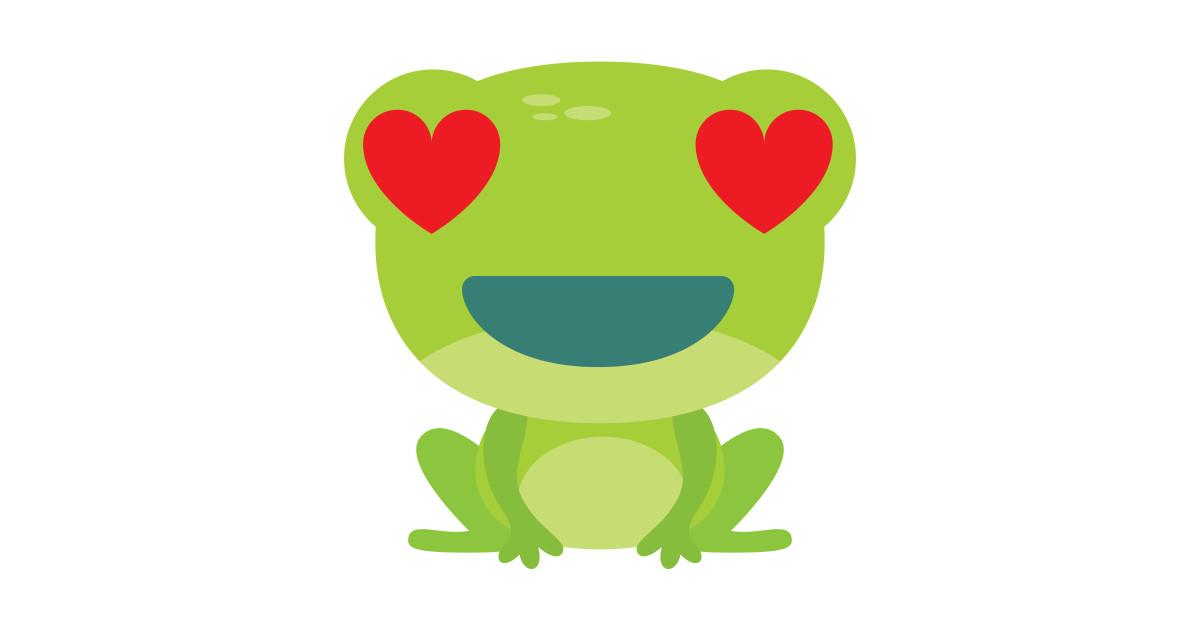 frog emoji heart and