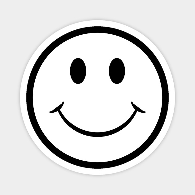 Smiley Face White Emoji Smiley Face White Emoji Magnet Teepublic