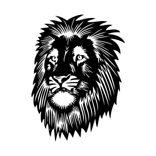 lion head face silhouette