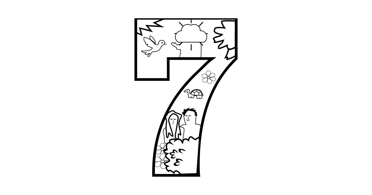 LIMITED EDITION. Exclusive Creation Day 7 Coloring Page