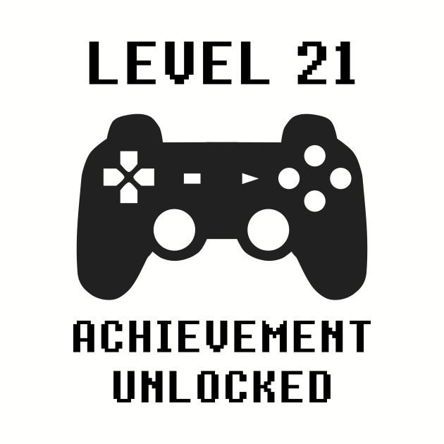 LEVEL 21 ACHIEVEMENT UNLOCKED Controller retro video games