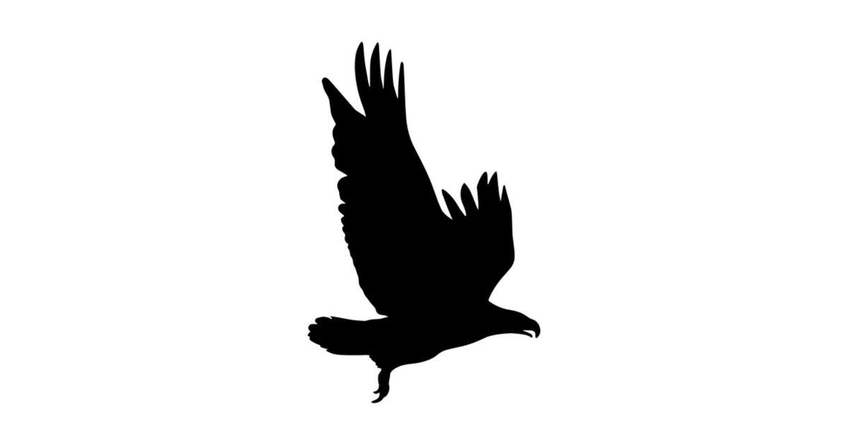 flying hawk silhouette by
