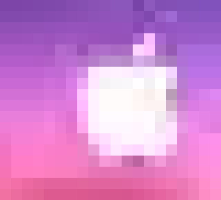 apple logo with pink background
