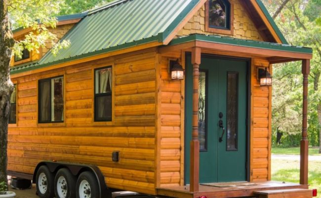 Tiny House Log Cabin On Wheels Tiny House For Sale In