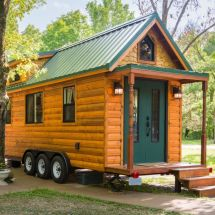 Tiny House Log Cabin Wheels - In