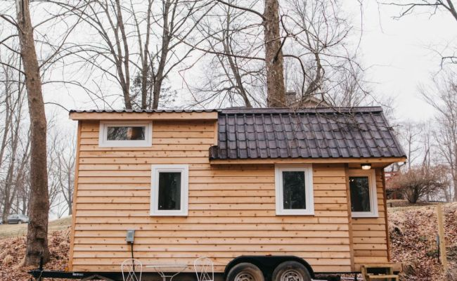 20 Cedar Tiny House On Wheels Partially Furnished From